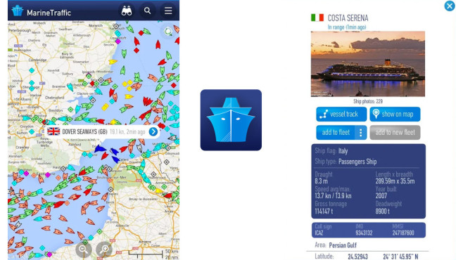 MarineTraffic – Ship Tracking © MarineTraffic.com