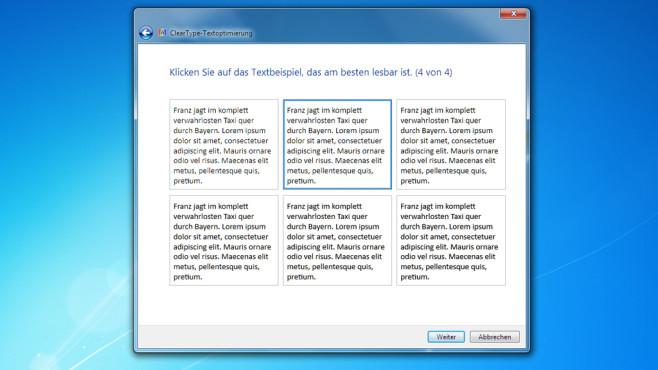 Schriftanzeige verbessern ©COMPUTER BILD