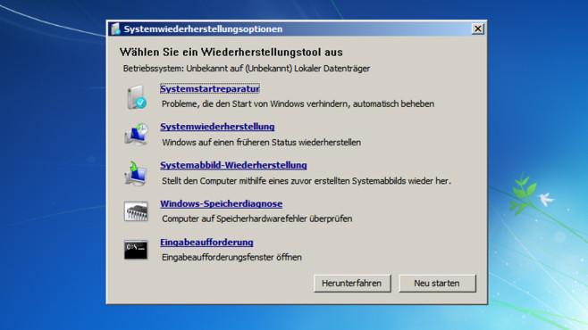 Windows 7: Systemstartreparatur ©COMPUTER BILD