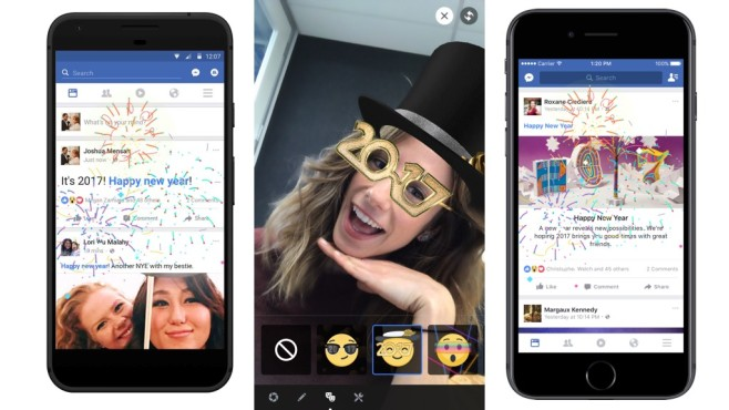 Facebook-Funktionen zu Silvester © Facebook