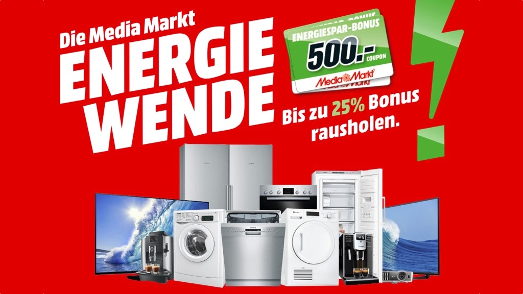 media markt bis zu 500 euro bonus auf elektroger te computer bild. Black Bedroom Furniture Sets. Home Design Ideas