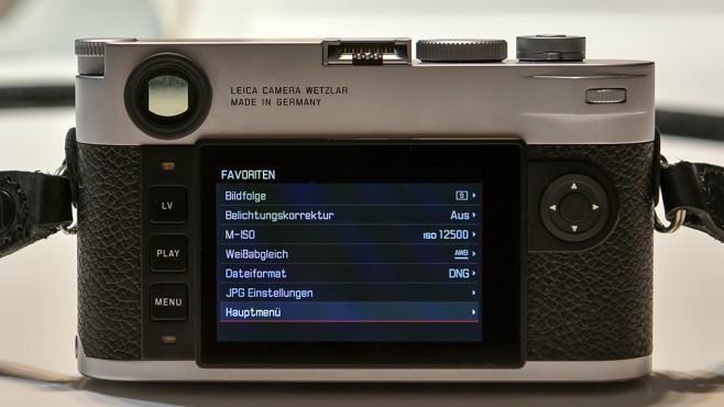 Info-Menü der Leica M (Typ 262) ©COMPUTER BILD