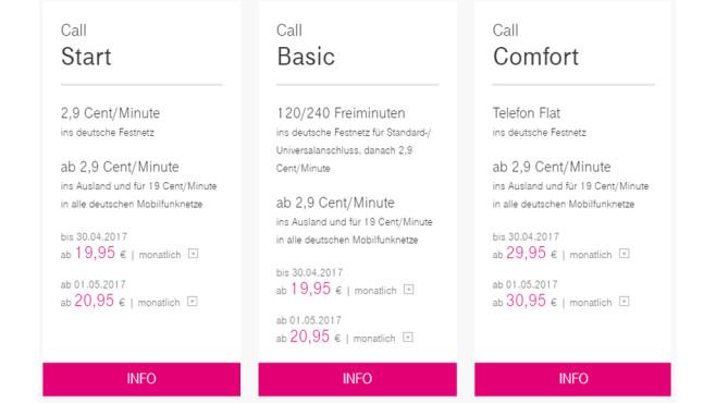 Telekom: Preiserhöhung ©Telekom.de