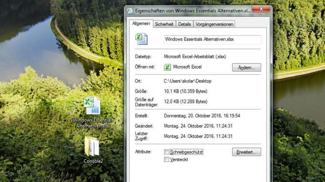 Datei-Eigenschaften einsehen ©COMPUTER BILD