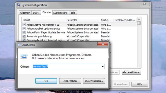 MSconfig-Start mit Parametern ©COMPUTER BILD
