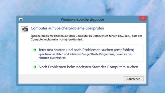 RAM auf Fehler testen ©COMPUTER BILD