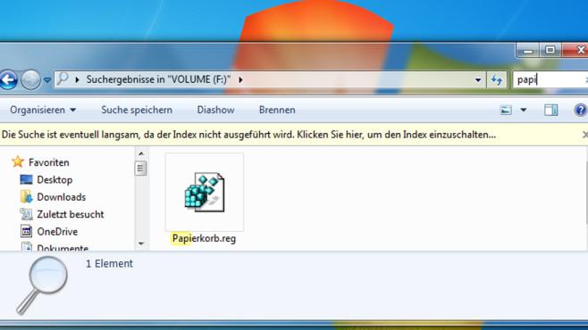 Suchen im Dateimanager ©COMPUTER BILD