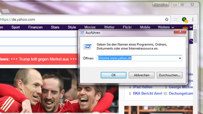 Webseite im Browser ansteuern ©COMPUTER BILD