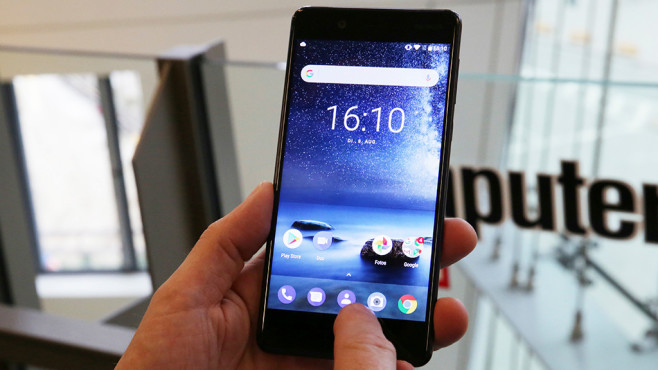 Nokia 8 im Labor-Test: QHD-Display © COMPUTER BILD