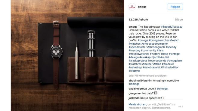 Omega Speedy Tuesday ©Instagram Omega Screenshot