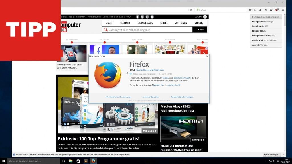 firefox tuning so machen sie den browser schneller computer bild. Black Bedroom Furniture Sets. Home Design Ideas