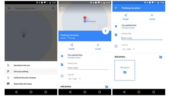 Google Maps: Parkplatz ©Google