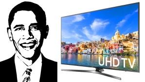 Samsung KU7000 mit Gesicht von Barack Obama ©Samsung, COMPUTER BILD
