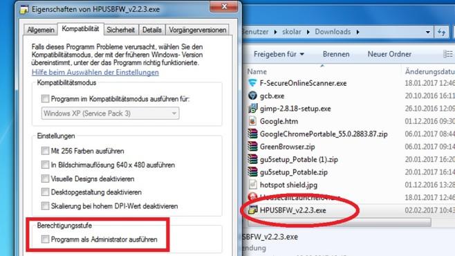 Administrator-Modus für Programme ©COMPUTER BILD