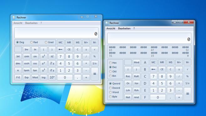 Taschenrechner: Wissenschaftlich und Programmierer ©COMPUTER BILD