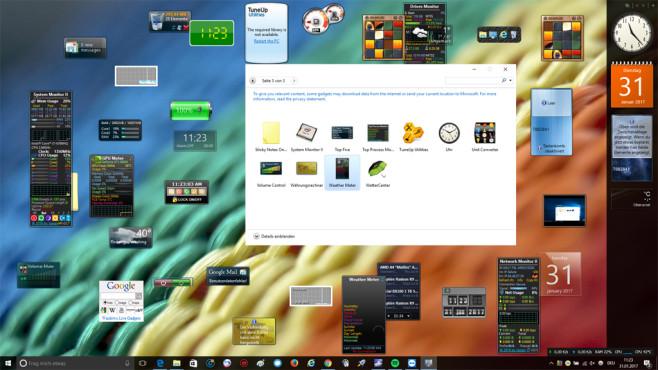 8GadgetPack: Minianwendungen weiter nutzen ©COMPUTER BILD