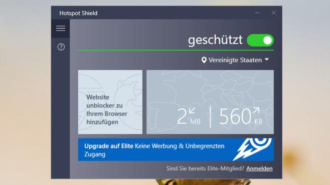 Hotspot Shield: Jeden Browser abschotten ©COMPUTER BILD