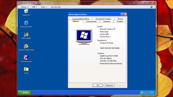XP-Modus: Ältere Programme ausführen ©COMPUTER BILD