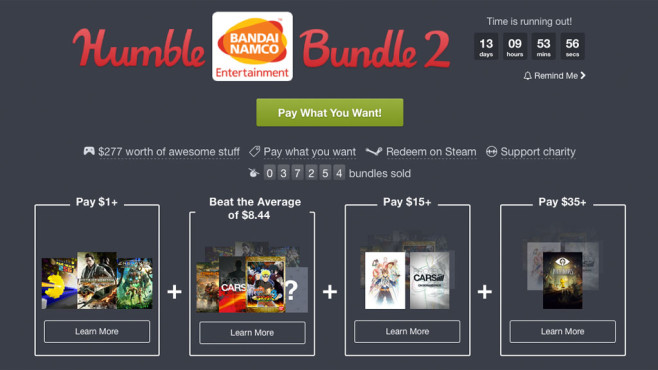 Humble Bundle: Bandai Namco © Humble Bundle