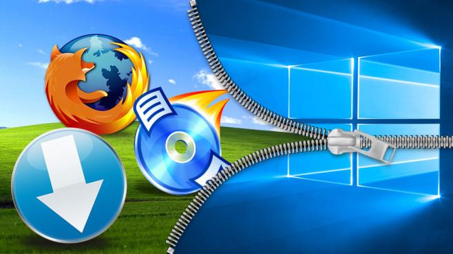Nostalgie-Downloads: 60 coole Tools bringen Retro-Feeling IT-Erfahrungen revue passieren lassen: Dafür sind diese Downloads gut ©Microsoft, Mozilla, Florian Schmitz