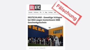Gefälschte Bild-News Ikea-Gutschein ©Onlinewarnungen.de