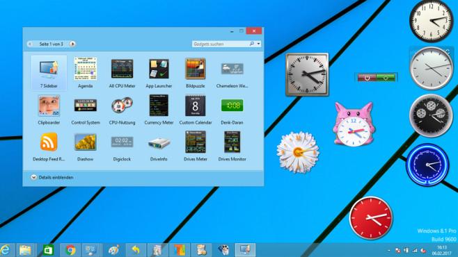 8GadgetPack: Desktop mit Uhr aufwerten ©COMPUTER BILD