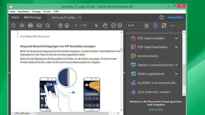 Adobe Acrobat Reader DC: PDFs ohne Browser öffnen ©COMPUTER BILD