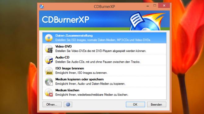 CDBurnerXP: Dateien auf CD/DVD brennen ©COMPUTER BILD