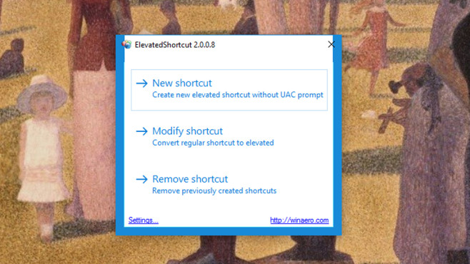 Elevated Shortcut: Warnmeldungen unterdrücken ©COMPUTER BILD