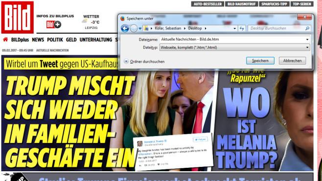 Firefox und Google: Webseiten sichern ©COMPUTER BILD