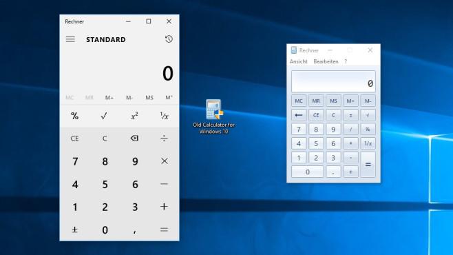 Old Calculator for Windows 10: Schlanken Taschenrechner installieren ©COMPUTER BILD