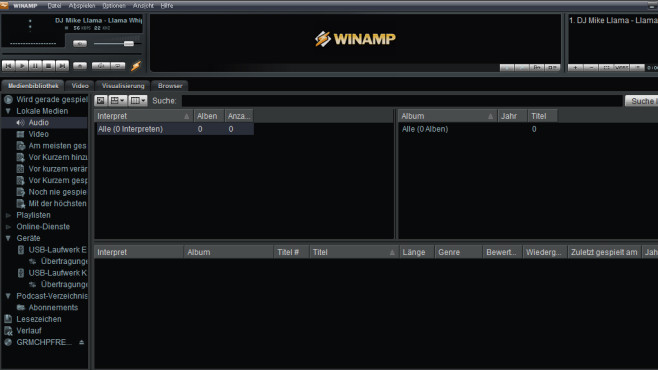 Winamp: Audioinhalte wiedergeben ©COMPUTER BILD