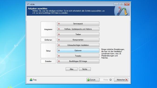 nLite & Co.: Windows-CD/-DVD individuell ©COMPUTER BILD
