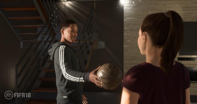 FIFA 18 im First Look: Kick it Like Ronaldo Alex Hunter kehrt mit dem Story-Modus zurück. Die große Frage: Bleibt er beim FC Chelsea oder wechselt er? ©EA