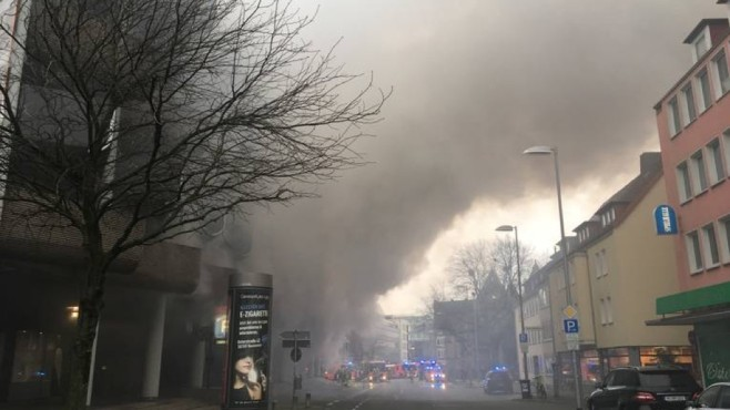 Brand in Parkhaus in Hannover © Feuerwehr Hannover