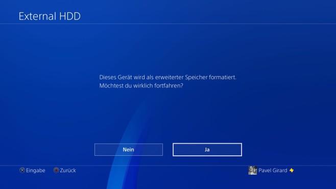 PS4-Firmware 4.50: So nutzen Sie die externe Festplatte ©Sony