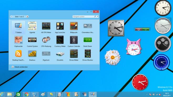 8GadgetPack: Großen Monitor ausnutzen ©COMPUTER BILD