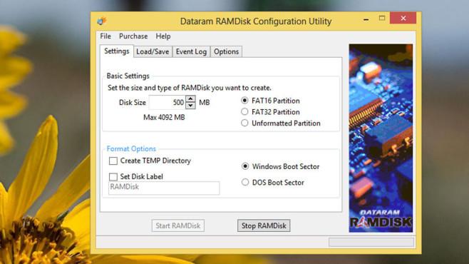 Dataram RAMDisk: Schnelles Laufwerk samt Backup ©COMPUTER BILD