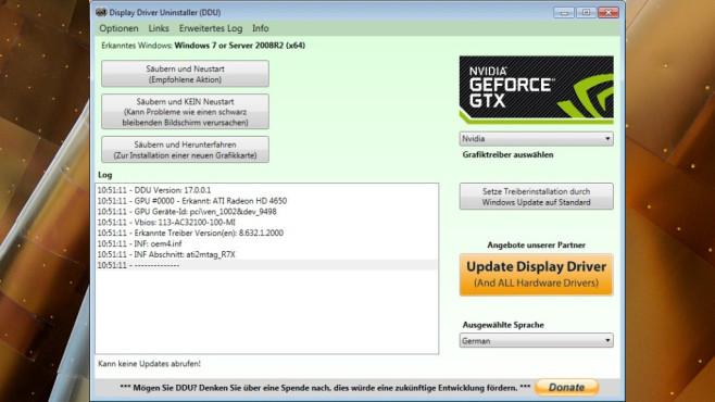 Display Driver Uninstaller (DDU): Treiber wechseln ©COMPUTER BILD