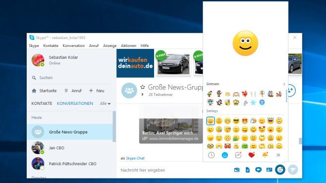 Skype: Kommunizieren per Chat ©COMPUTER BILD