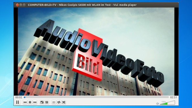 VLC Media Player: Audio, Video, Foto wiedergeben © COMPUTER BILD