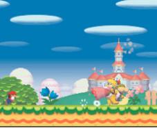 New Super Mario Bros.: So beginnt der ganze Ärger. Bowser jr. schnappt sich die Prinzessin und rennt auf und davon.