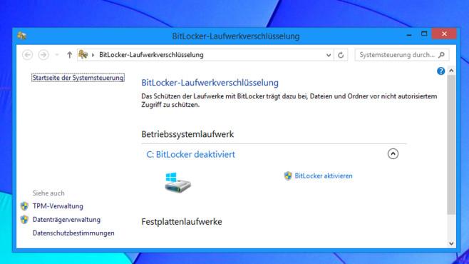 BitLocker-Laufwerkverschlüsselung ©COMPUTER BILD