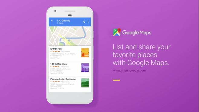 Google Maps Listenfunktion ©Google