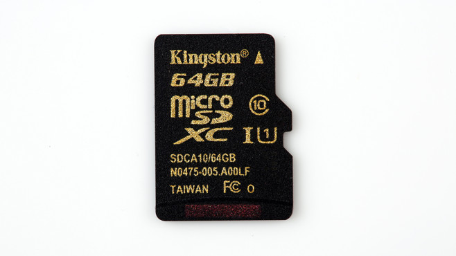 Kingston microSDXC 64GB Class 10 (SDCA10/64GBSP) © COMPUTER BILD