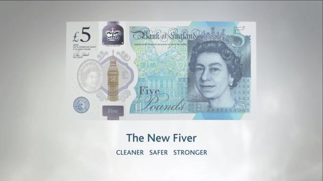 Neue britische Fünf-Pfund-Note ©Bank of England