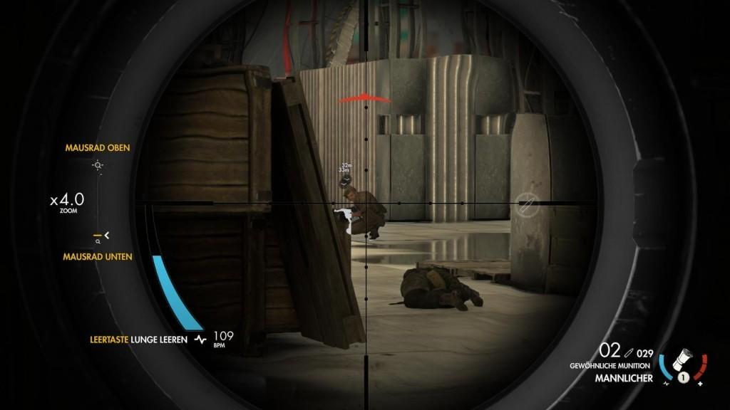 """Sniper Elite 4 – Italia: Hauptsache Italien! Zielen, Lunge leeren, abdrücken – so klappt es mit dem nächsten Treffer in """"Sniper Elite 4"""". ©Rebellion"""
