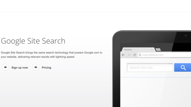Google schließt Site Search © Screenshot Google
