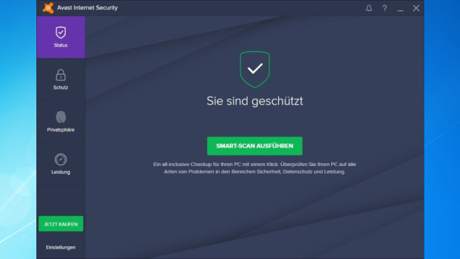 Platz 2: Avast Internet Security (neu) © COMPUTER BILD