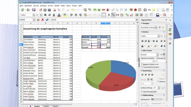 Platz 23: LibreOffice (Vormonat: Platz 33) ©COMPUTER BILD